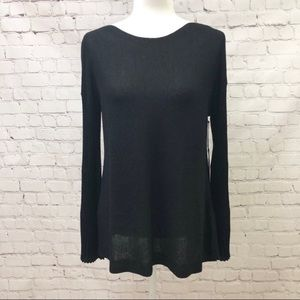 Vince Camuto Sparkly Bell Sleeve Sweater Black
